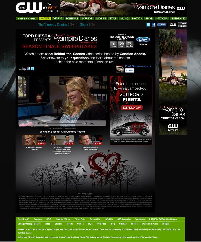 Ford Fiesta Presents The Vampire Diaries Season Finale Sweepstakes